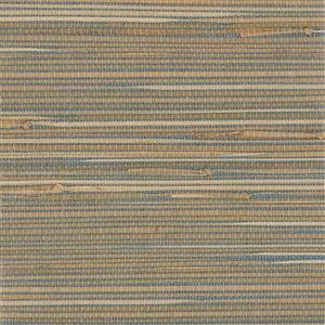 Papier peint non encollé en toile de ramie Zen par Kenneth James, 72 pi², gris