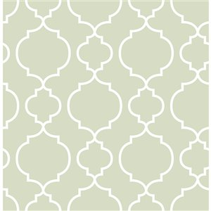 Brewster For Your Bath III Unpasted Nonwoven Wallpaper - 56.4-sq. ft. - Sage