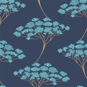 NuWallpaper Ficus Self-Adhesive Vinyl Wallpaper - 30.75-sq. ft. - Blue