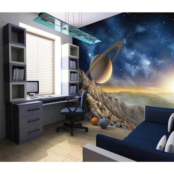 Peinture murale galaxie ohpopsi, non encollée, 118 po x 94 po