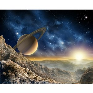 ohpopsi Galaxy Wall Mural - Unpasted - 118-in x 94-in