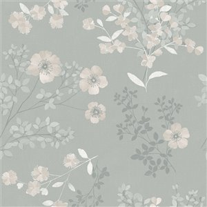 Wall Vision In Bloom Unpasted Nonwoven Wallpaper - 57.8-sq. ft. - Taupe