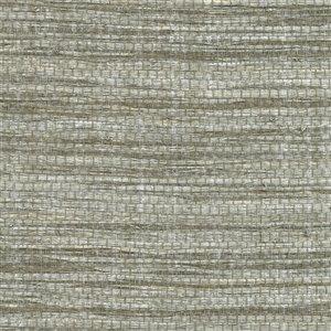 Papier peint non encollé en toile de ramie Cavite Canton Road par Kenneth James, 72 pi², gris