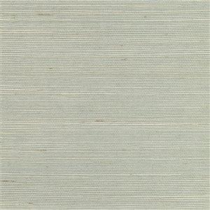 Papier peint non encollé en toile de ramie Nantong Canton Road par Kenneth James, 72 pi², bleu pâle