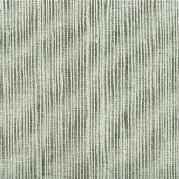Papier peint non encollé en toile de ramie Jade par Kenneth James, 72 pi², turquoise