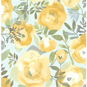 NuWallpaper Self-Adhesive Vinyl Wallpaper - 30.75-sq. ft. - Yellow