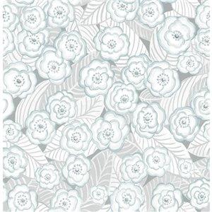 NuWallpaper Oopsie Daisy Self-Adhesive Vinyl Wallpaper - 30.75-sq. ft. - Grey