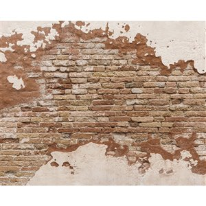 Wall Rogues Distressed Brick Wall Mural - Unpasted - 118-in x 94-in