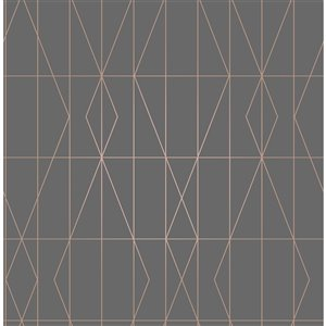 Brewster Essentials Unpasted Nonwoven Wallpaper - 56.4-sq. ft. - Charcoal Grey