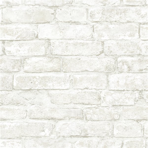 Papier peint encollé Farmhouse par Chesapeake, 56,4 pi², blanc cassé