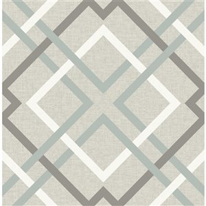Brewster Fresh Start Unpasted Nonwoven Wallpaper - 56.4-sq. ft. - Taupe