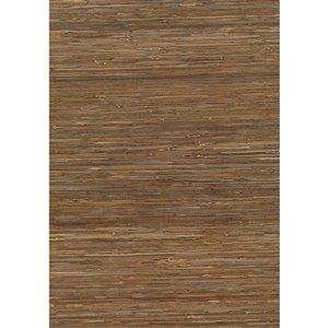 Papier peint non encollé en toile de ramie Jiangsu par Kenneth James, 72 pi², brun pâle
