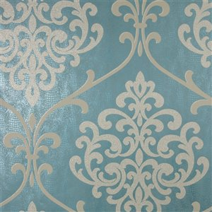 Kenneth James Sparkle Unpasted Nonwoven Wallpaper - 56.4-sq. ft. - Teal
