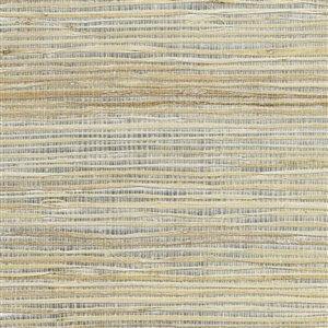 Papier peint non encollé en toile de ramie Canton Road par Kenneth James, 72 pi², argent et cuivre