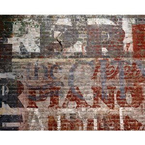 Wall Rogues Warehouse Brick Wall Mural - Unpasted - 118-in x 94-in