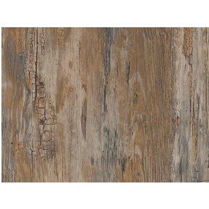 Film auto-adhésif effet bois rustique de DC Fix, 157,48 po x 17,7 po, brun, ens. de 2