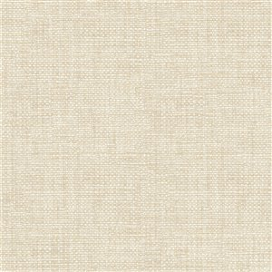 Papier peint non encollé et non tissé Essentials par Brewster, 56,4 pi², blanc cassé