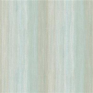 Papier peint encollé Seaside Living par Chesapeake, 56,4 pi², vert