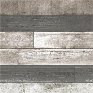 Papier peint non encollé et non tissé Kitchen, Bed, & Bath IV par Brewster, 56,4 pi², gris
