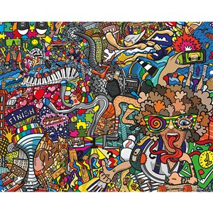 ohpopsi Sports Illustrations Wall Mural - Unpasted - 118-in x 94-in