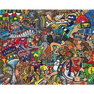 Peinture murale monde du sport ohpopsi, non encollée, 118 po x 94 po