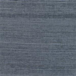 Papier peint non encollé en toile de ramie Victoria Canton Road par Kenneth James, 72 pi², indigo