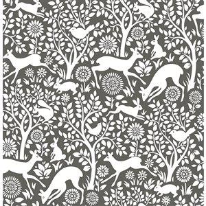 Papier peint non encollé et non tissé Essentials par Brewster, 56,4 pi², brun et blanc