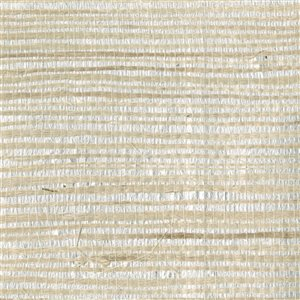 Kenneth James Zen Grasscloth Unpasted Paper Wallpaper - 72-sq. ft. - Silver and Beige