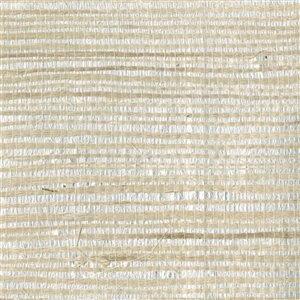 Papier peint non encollé Zen par Kenneth James, 72 pi², argent et beige