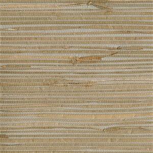 Papier peint non encollé Zen par Kenneth James, 72 pi², gris clair et brun