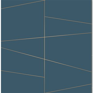 Brewster Essentials Unpasted Nonwoven Wallpaper - 56.4-sq. ft. - Blue