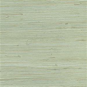 Papier peint non encollé en toile de ramie Canton Road par Kenneth James, 72 pi², menthe
