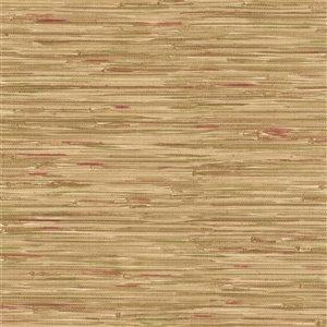 Papier peint non encollé en vinyle Techniques & Finishes III par Brewster, 56,4 pi², brun pâle