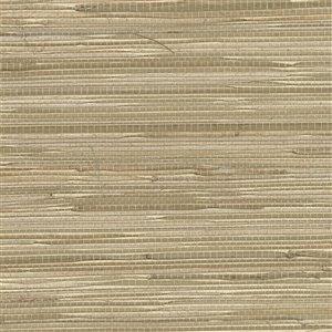 Papier peint non encollé en toile de ramie Canton Road par Kenneth James, 72 pi², blé
