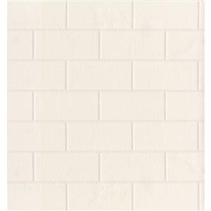 Papier peint encollé en vinyle For Your Bath III par Brewster, 56,4 pi², blanc