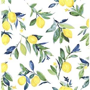 NuWallpaper Lemon Drop Self-Adhesive Vinyl Wallpaper - 30.75-sq. ft. - Yellow