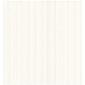 Papier peint encollé en vinyle For Your Bath III par Brewster, 56,4 pi², blanc cassé