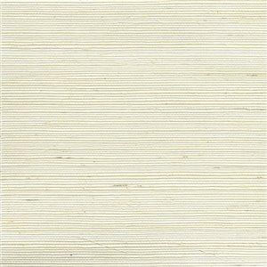 Papier peint non encollé en toile de ramie Canton Road par Kenneth James, 72 pi², blanc cassé