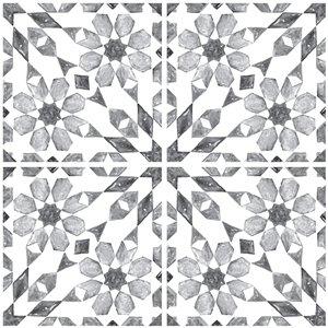 InHome Catalan Self-Adhesive Peel and Stick Backsplash Tile - 20-in x 20-in - Set of 4 Panels