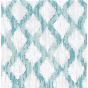 Papier peint autoadhésif en vinyle par NuWallpaper, 30,75 pi², turquoise