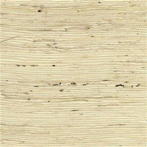 Papier peint non encollé en toile de ramie Tomur Canton Road par Kenneth James, 72 pi², beige
