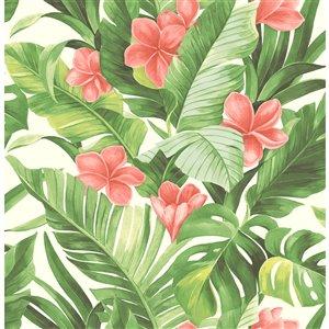 NuWallpaper Tropical Paradise Self-Adhesive Vinyl Wallpaper - 30.75-sq. ft. - Green