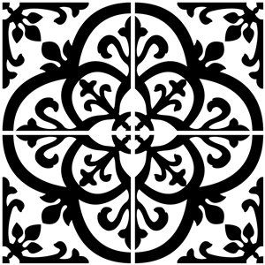 InHome Avignon Self-Adhesive Peel and Stick Backsplash Tile - 20-in x 20-in - Set of 4 Panels
