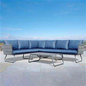 Ensemble de sofa Starsong Stockholm, bleu, 3 mcx