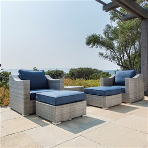 Starsong Kavala Patio Club Chair Set - Blue - 5 Piece Set