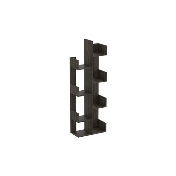 Safdie & Co. Bookcase - 57-in x 20-in - Dark Grey