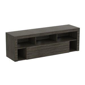 Meuble de télévision Safdie & Co., 1 tiroir et 5 tablettes, 59 po x 21 po, gris foncé