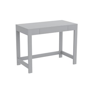 Bureau d'ordinateur Safdie & Co., 1 tiroir, 30 po x 39 po, gris pâle