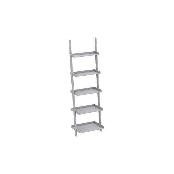 Safdie & Co. Bookcase - 70-in x 22-in - Light Grey