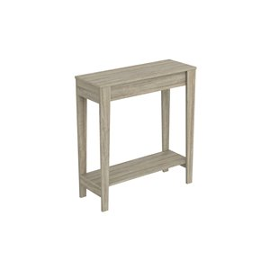 Table console Safdie & Co., 1 tablette, 34 po x 31,25 po, taupe foncé